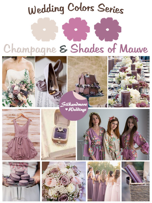 Wedding Theme Robes | Wedding Color Robes| Wedding Palatte Robes