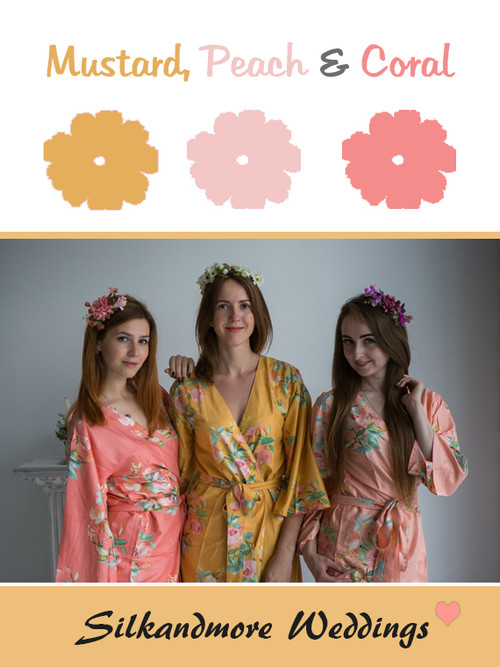 Mustard, Peach and Coral Color - Premium Rayon Collection