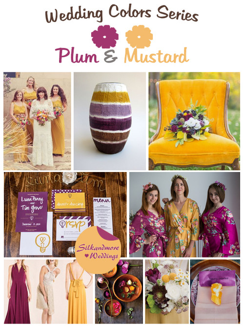 Plum and Mustard Wedding Color Palette