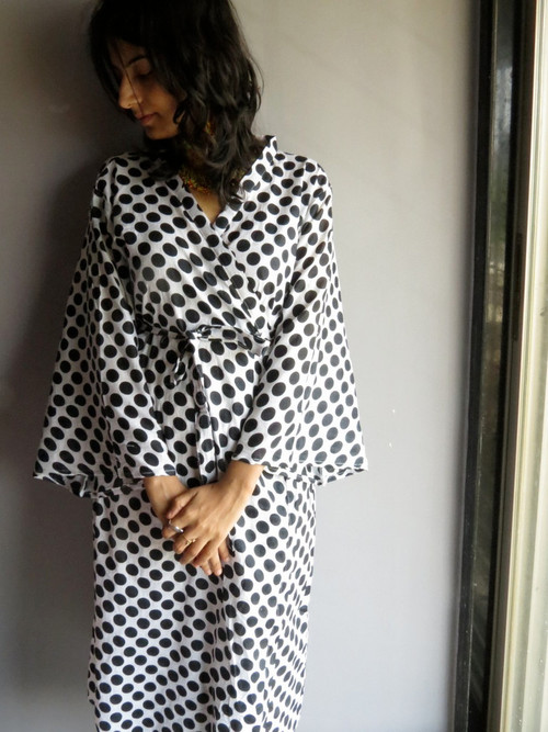 White Polka Dots Robes for bridesmaids | Getting Ready Bridal Robes