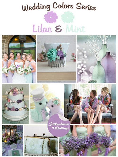 Lilac and Mint Wedding Color Robes - Robes by silkandmore