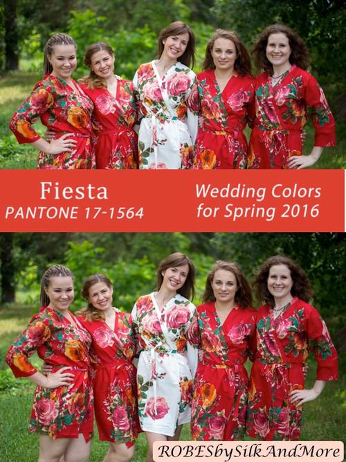Fiesta Bridesmaids Robes   Pantone Spring 2016 Colors
