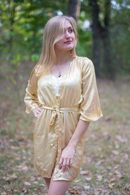 Oh Stella Shimmery Gold Bridal Robe
