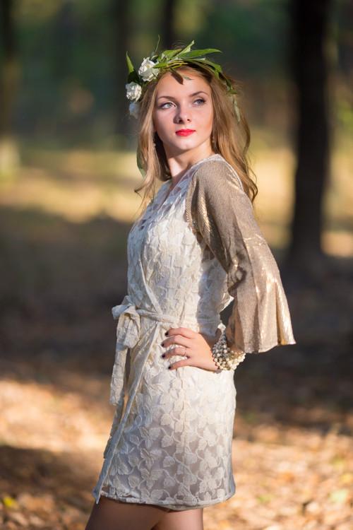 Oh Sunshine Lace Shimmer Bridal Robe