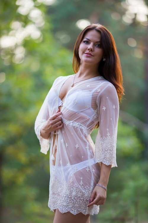 Oh Isabelle White Scalloped Lace Bridal Boudoir Robe