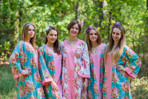 The Glow Within Style Kaftans for bridesmaids to get ready in