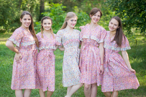 Petit Floral Housecoats for bridesmaids to get ready in