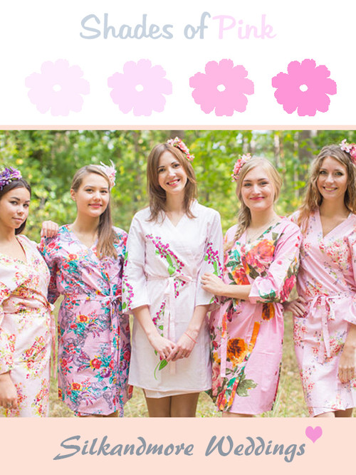 Assorted Pink Robes | SilkandMore Robes