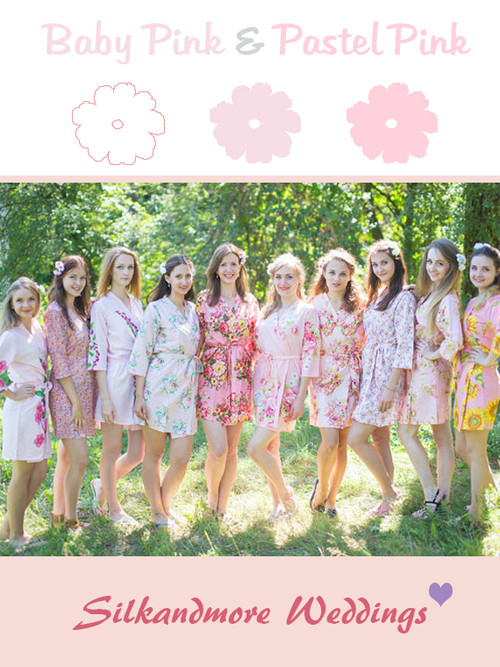 Assorted Soft Pinks | SilkandMore Robes