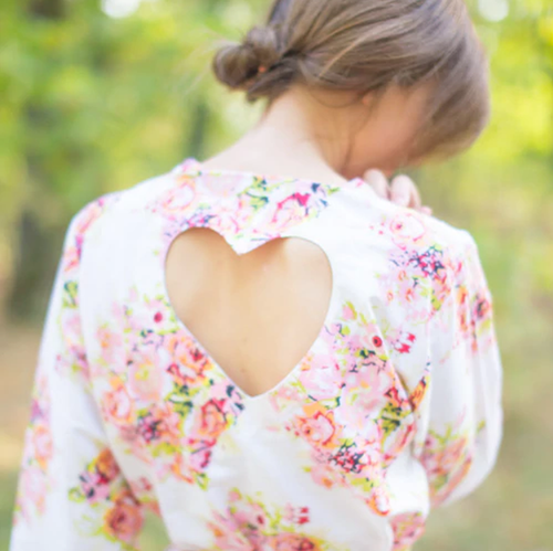 Add Heart Cut Outs on the back of the Robes