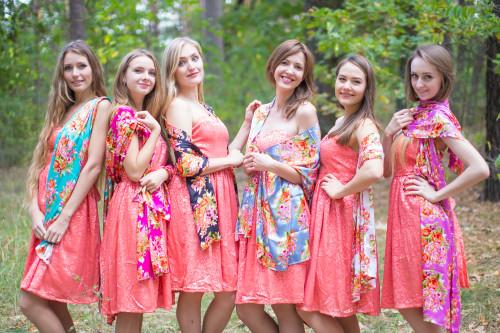 Bright Floral Posy Silk Scarves
