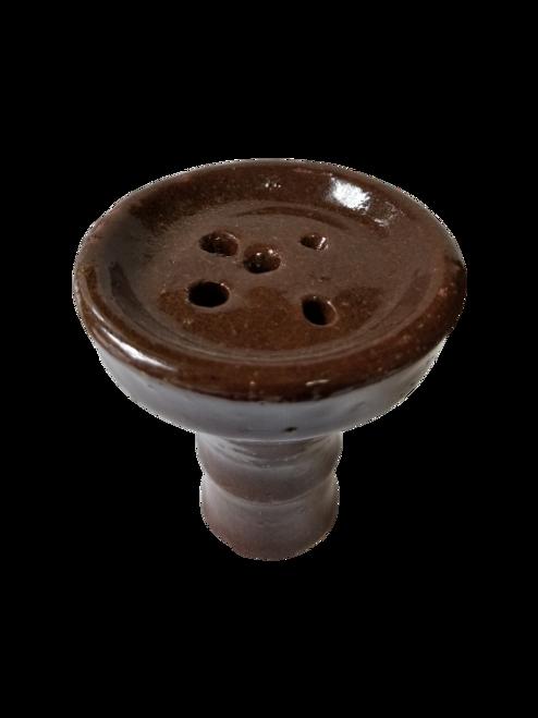 Shallow Medium Painted Female Clay Bowl
