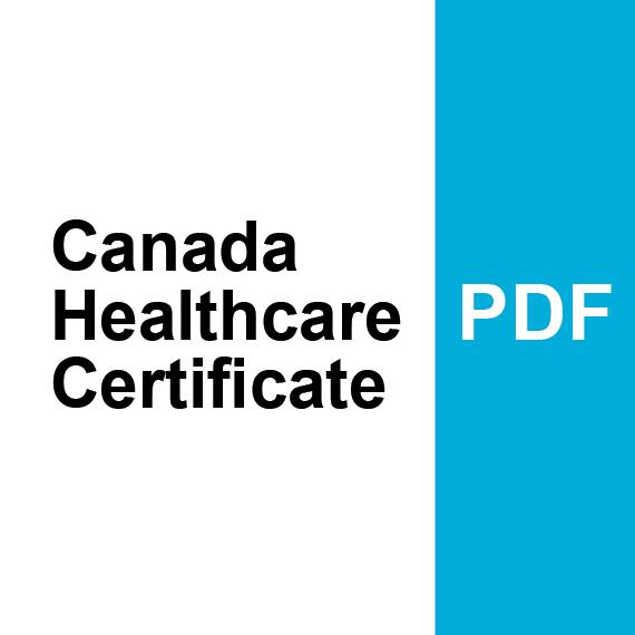 Canada Healthcare Certificate PDF