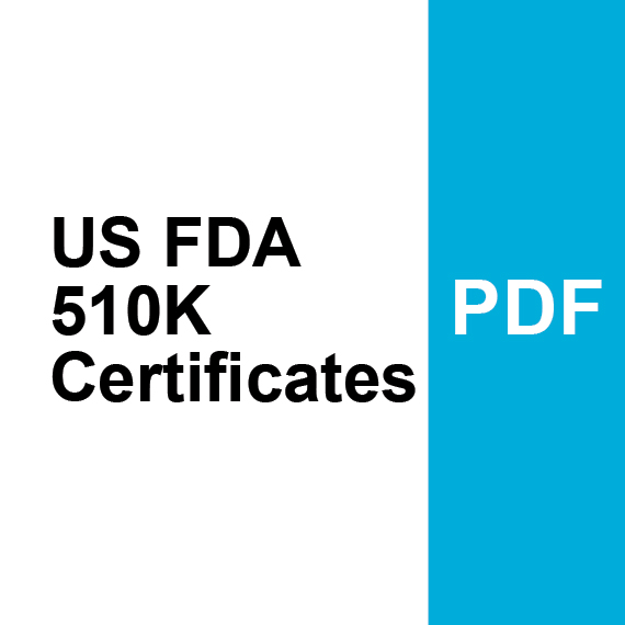 US FDA Certificate 510K - K170588 & 510K - K173908 PDF
