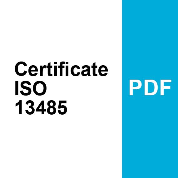 Certificate ISO 13485 PDF