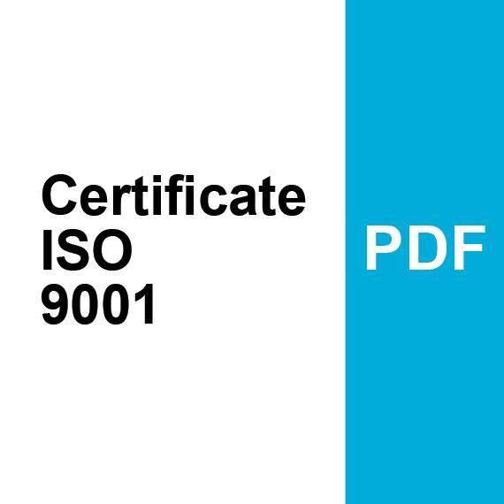 Certificate ISO 9001 PDF