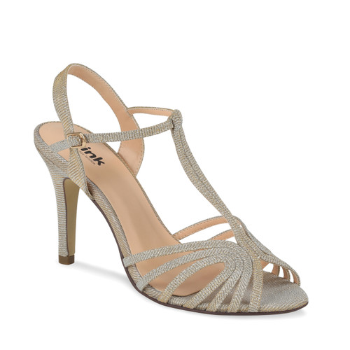 Sample -Discontinued - Cinnamon Dyeable Satin Open Toe Shoes