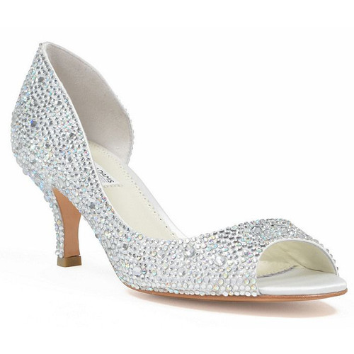 Sample- Divine Low Heel Crystal Wedding Shoes