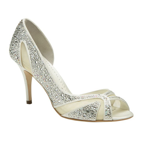 Sample Catherine Crystal Wedding Shoes