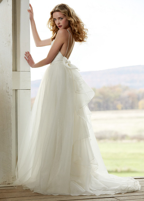 Blush by Hayley Paige Wedding Camellia Over skirt (1201)