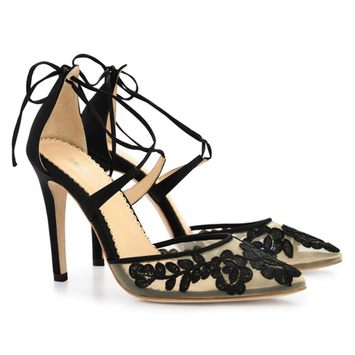 Bella Belle Anita Black Wedding Shoes