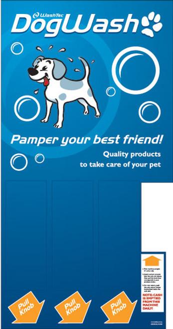 3 Column Dog Wash Mechanical Vendor Decal