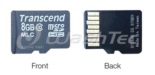 8BG Micro SD Card - WashTec Plus