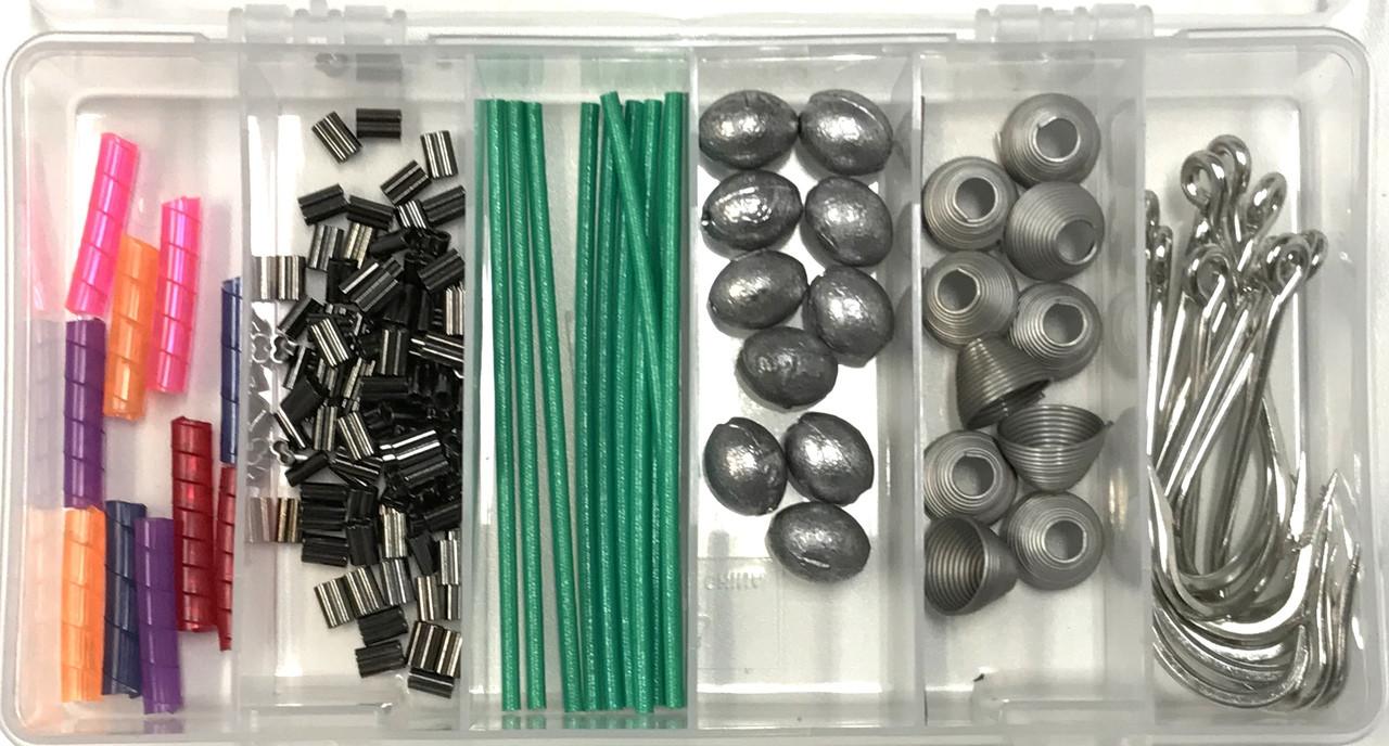 Ballyhoo Pin Rig Kit Hooks, Rigging Springs, Copper Crimps, Line ...