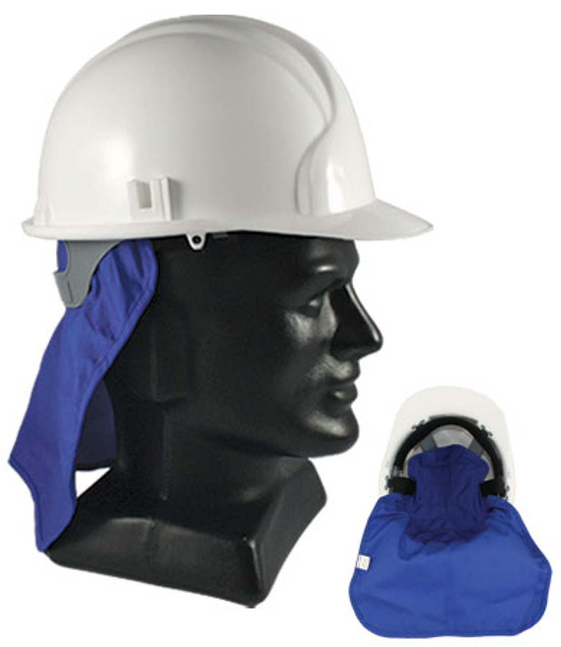 Mega Cooling Hard Hat Pad with Neck Shade, Blue
