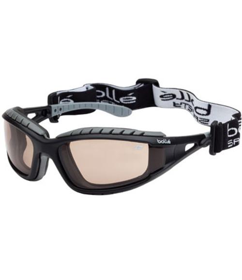 Safety Tracker Eyewear, Yellow Tint Lens, Black/Gray