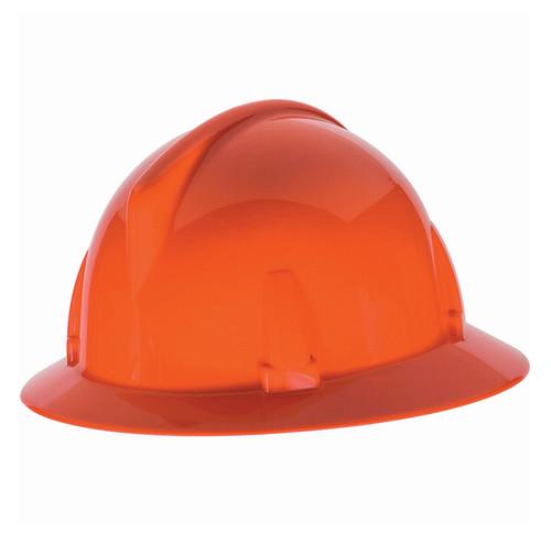 Orange Half Brim Protective Helmut
