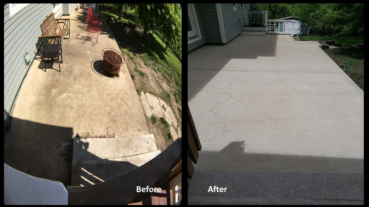 SealGreen Mold and Mildew Cleaner used to clean 25 year old concrete Patio