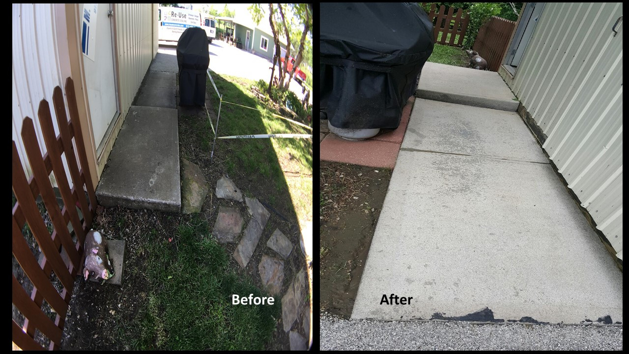 SealGreen Mold and Mildew Cleaner used to clean 25 year old concrete walkway