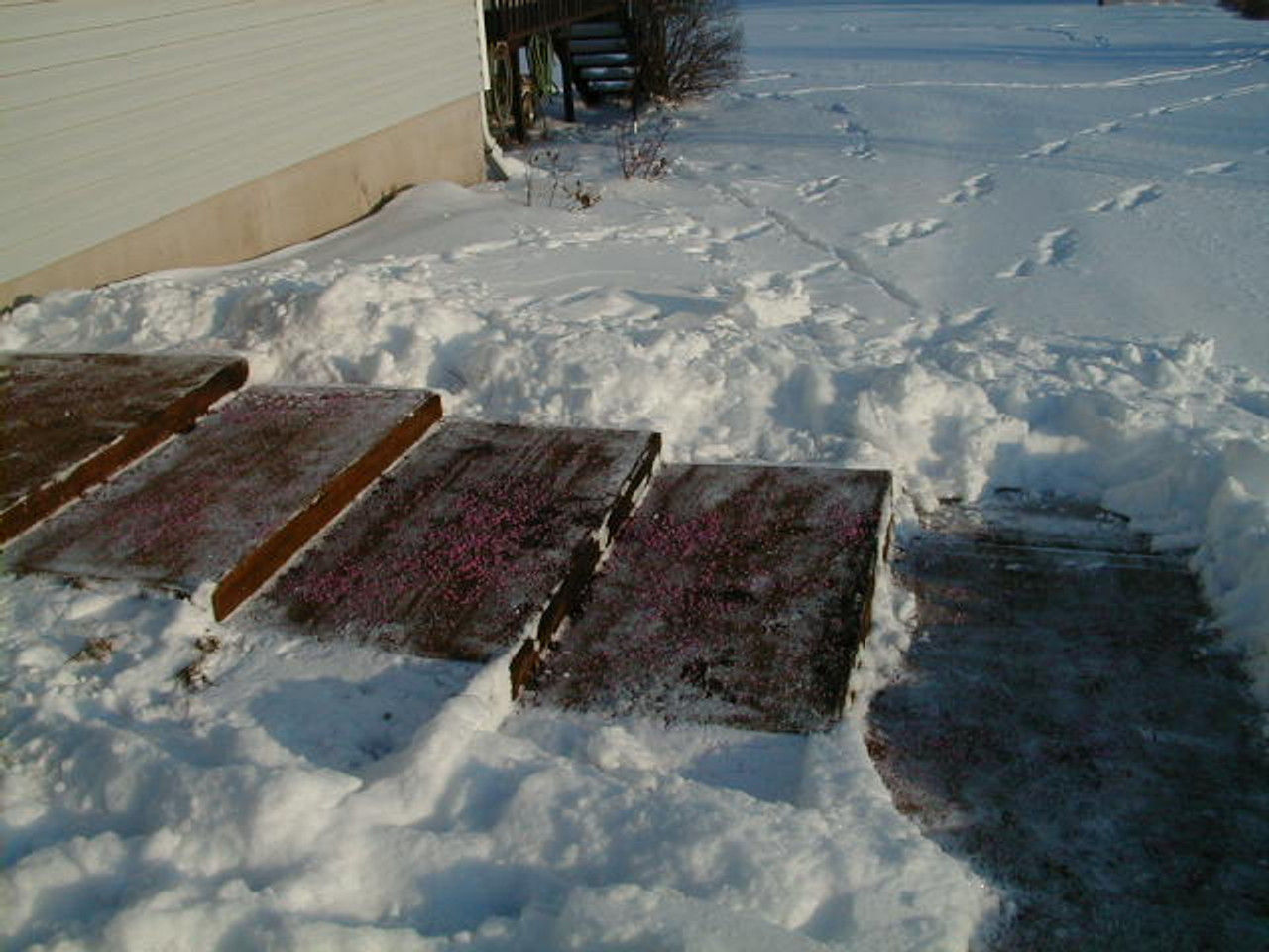 Snow and Ice Melter A Superior Product For Concrete provides a safe surface for foot traffic on steps