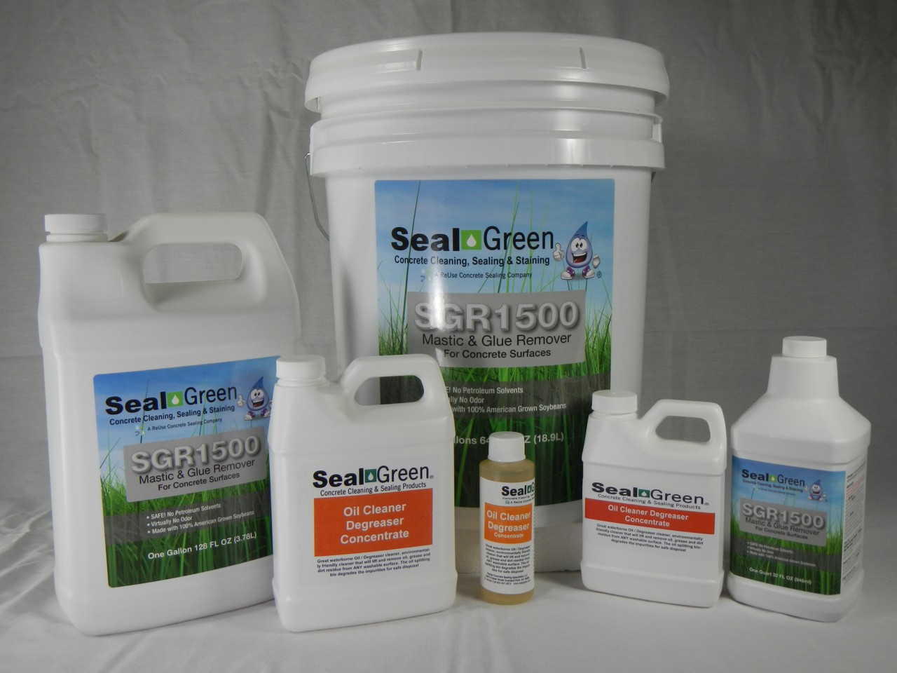 Sgr1500 500mr mastic remover with cleaner degreaser for Cement cleaning solution