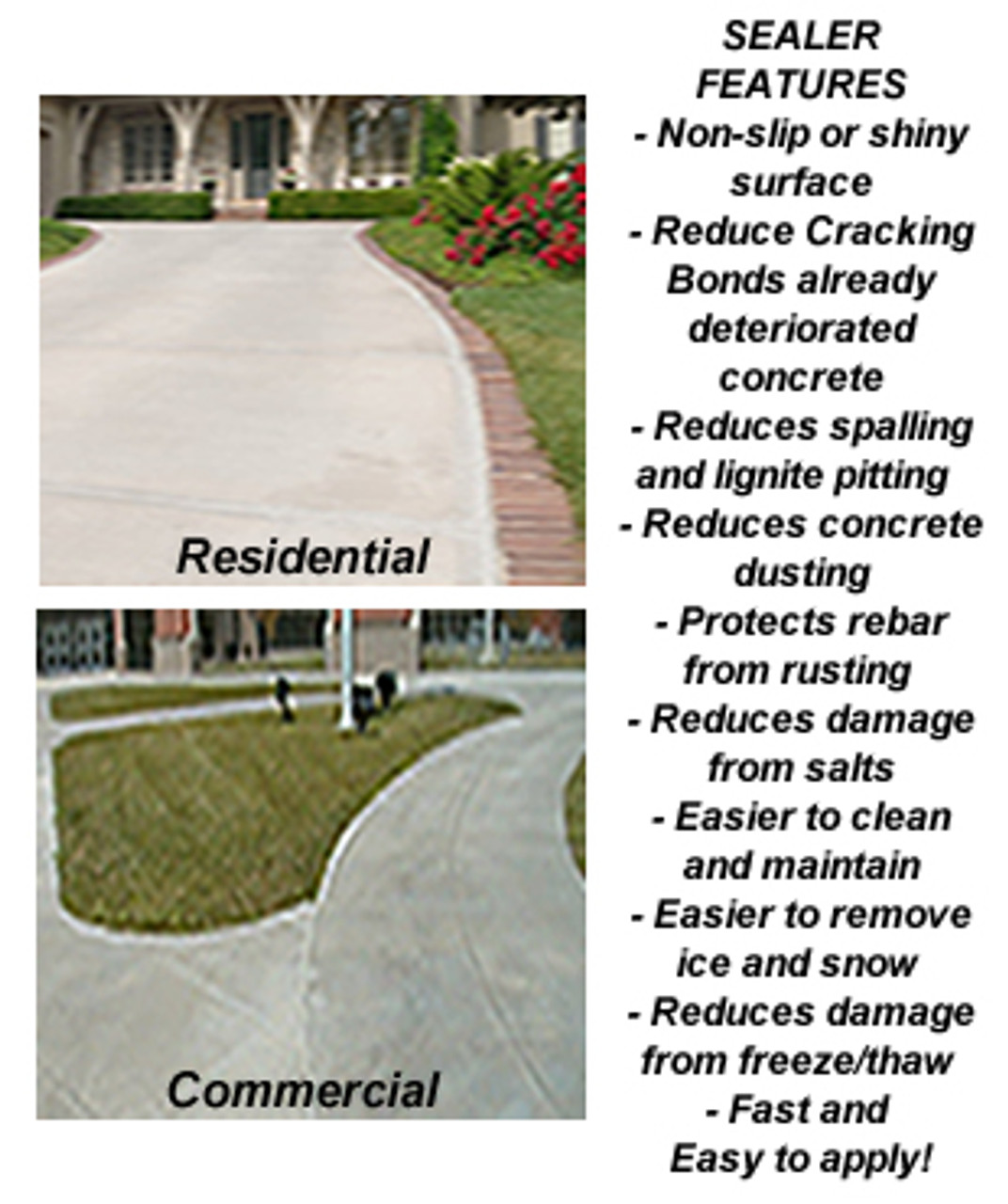 SealGreen Concrete Sealer for Residential and Commercial Applications