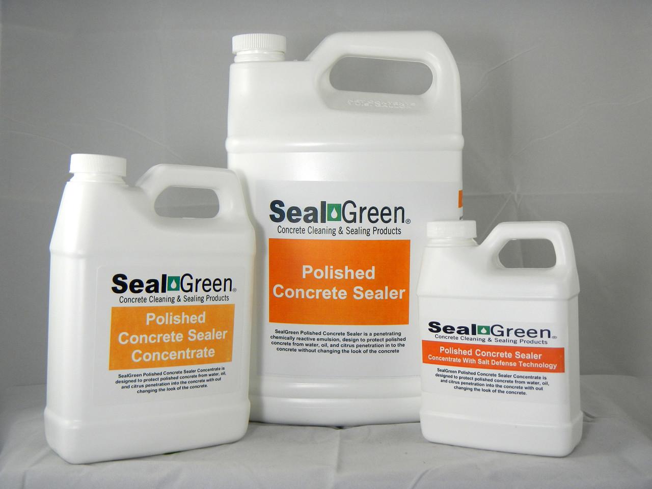 SealGreen Polished Sealer Concrete Concentrate with Salt Defense Technology