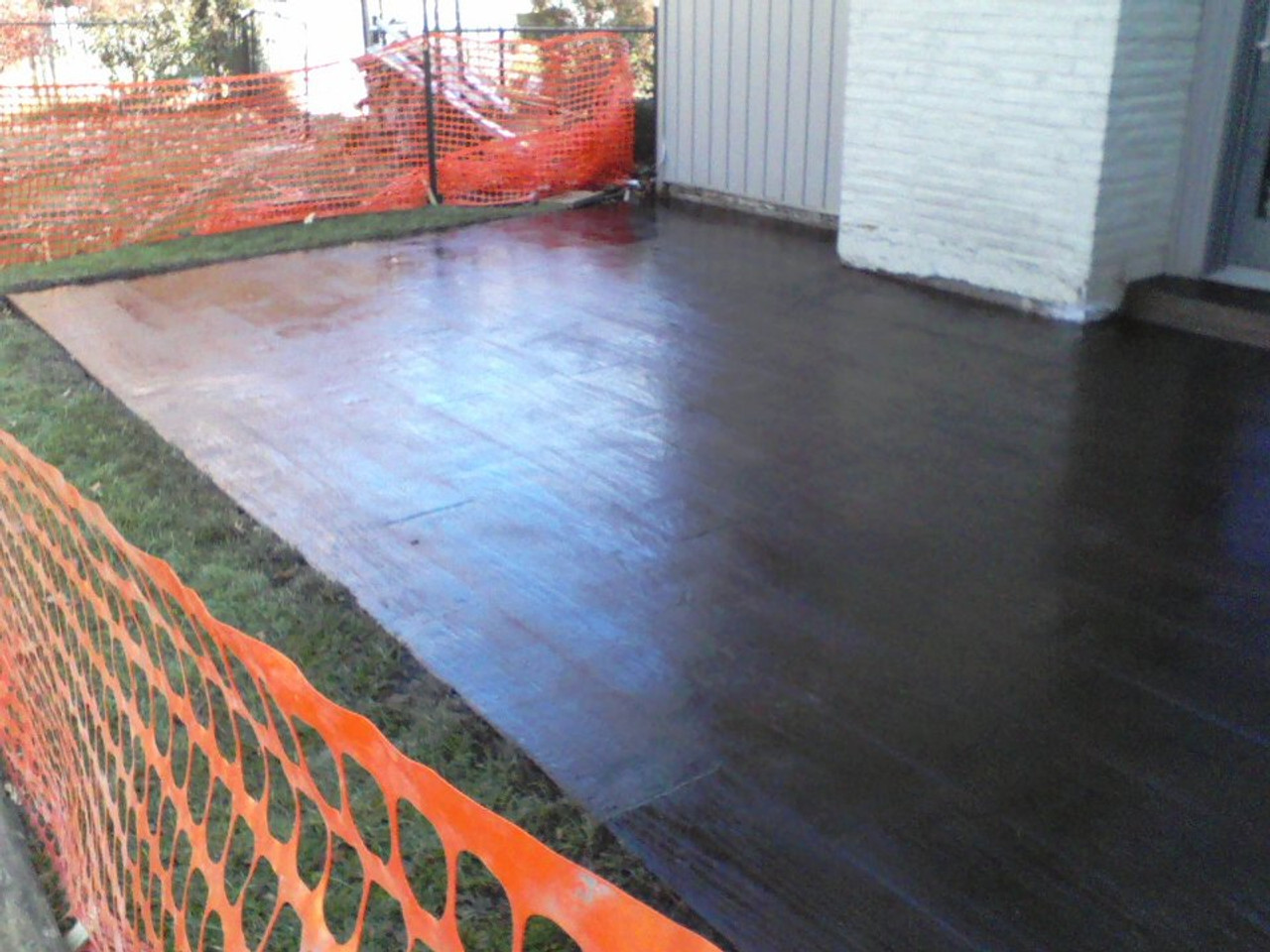 E15 Epoxy Stamped Concrete Sealer protects against salt and deicers damage