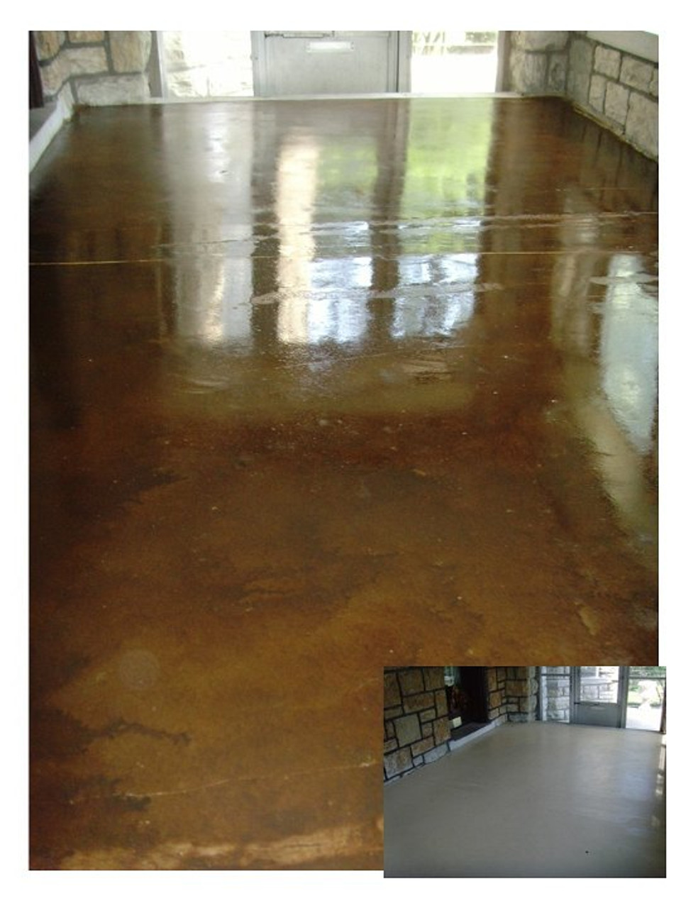 E15 Epoxy Stamped Concrete Sealer provides a great gloss look