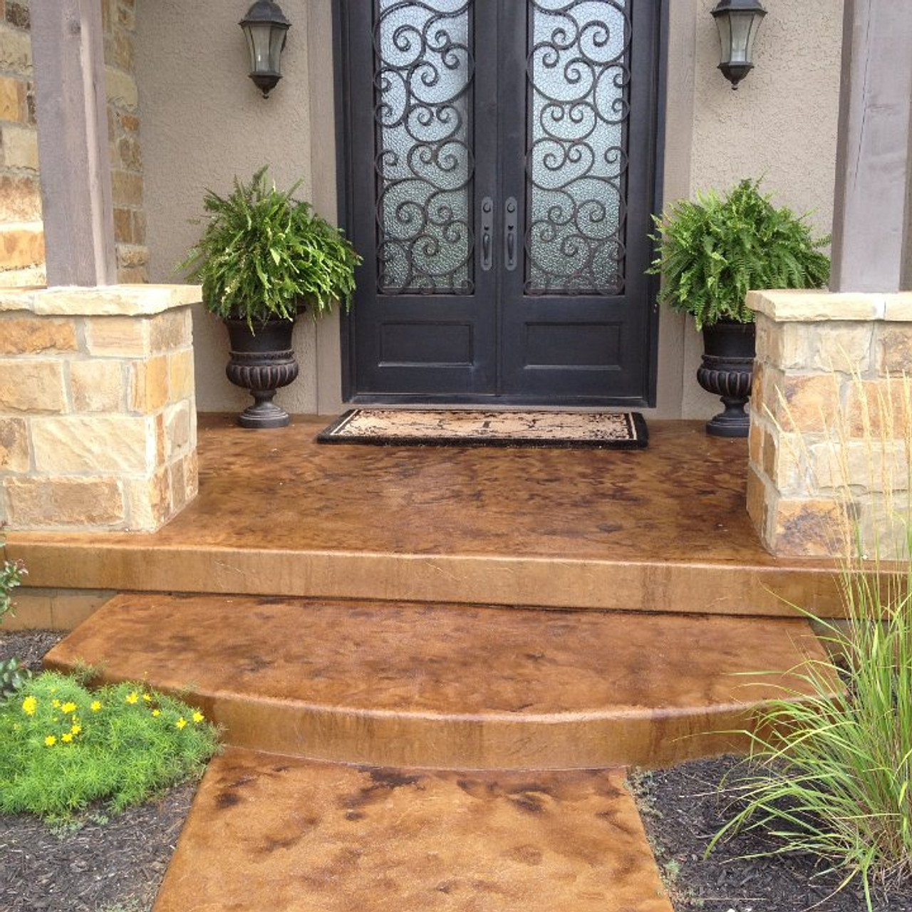 E15 Epoxy Stamped Concrete Sealer can be applied with anti skid to prevent a slipery surfaces