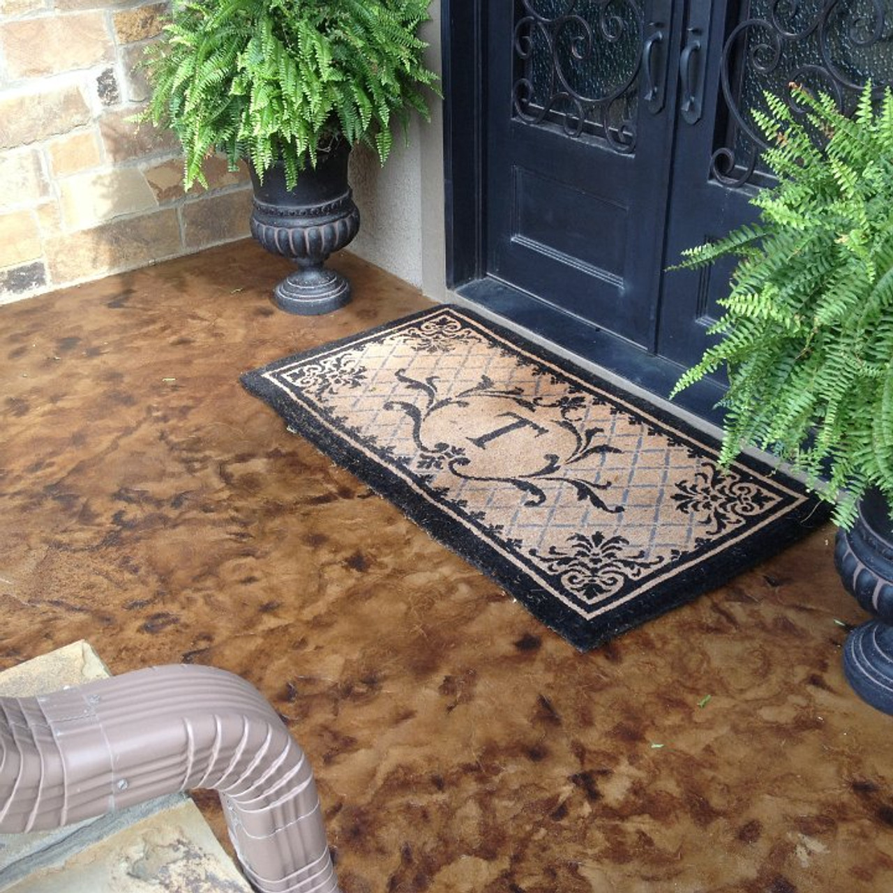 E15 Epoxy Stamped Concrete Sealer Outdoor Deco Decorated And