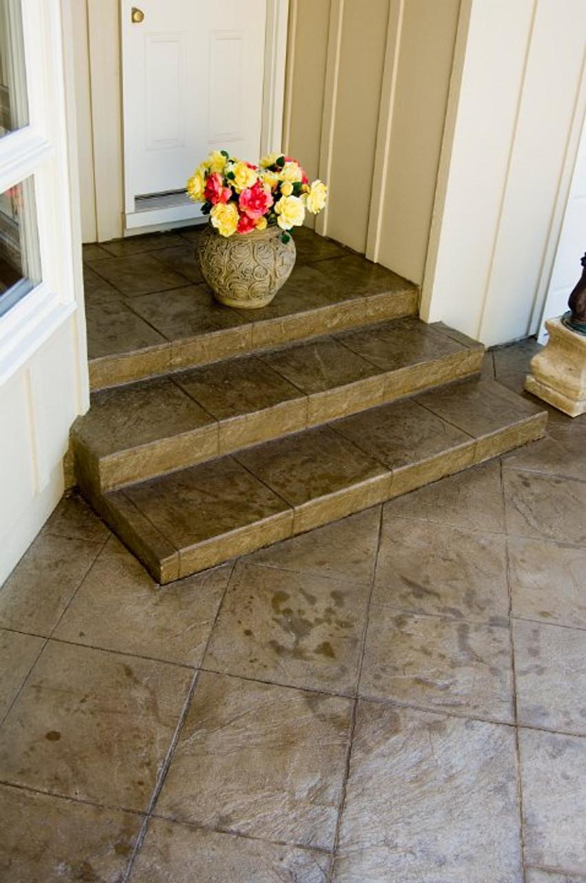 E15 Stamped Concrete Sealer enhancing a back porch