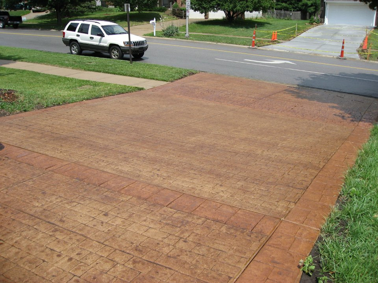 E15 Stamped Concrete Sealer can be applied on driveways
