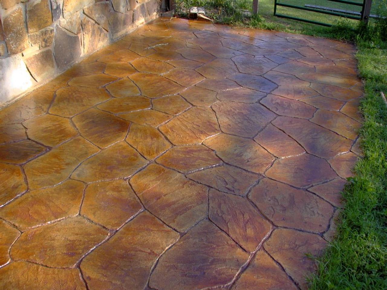 E15 Stamped Concrete Sealer enhancing a back patio