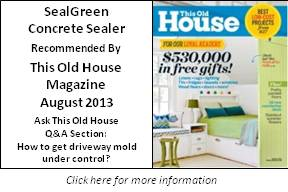 This Old House Recommends SealGreen Mold and Mildew Remover