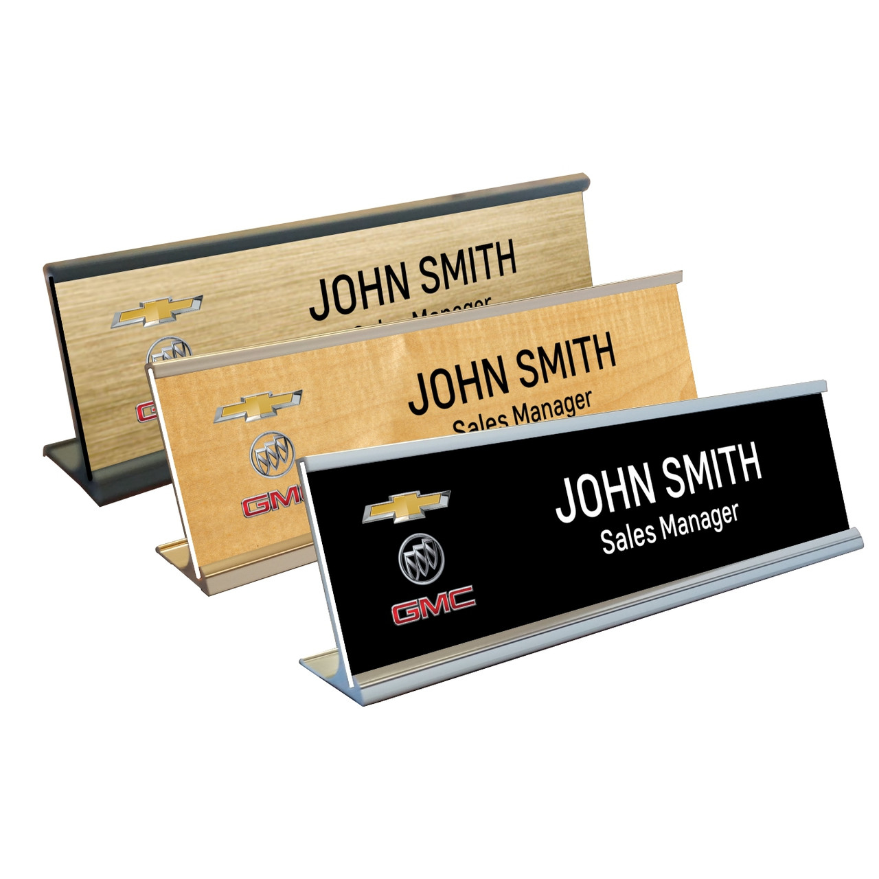 chevrolet buick gmc name plate with desk holder chevrolet buick