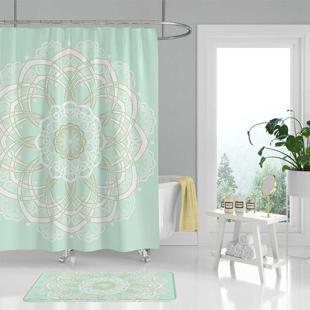 Mint Green Shower Curtain Click Here To Enlarge