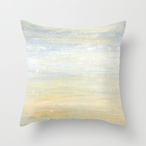 gray and cream cushion cover, abstract decorative pillow