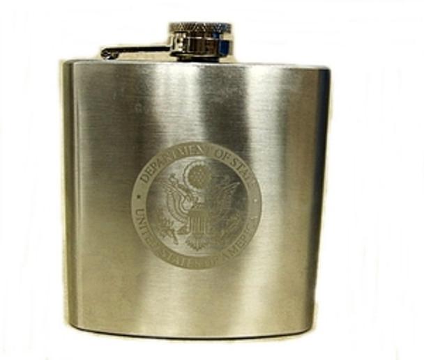 Flask 6 oz. DOS engraved