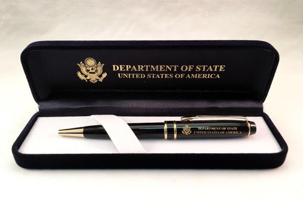 Ballpoint Pen w/ Custom Velvet Presentation Box - DOS Logo